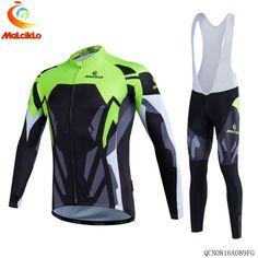 955e26b02 MALCIKLO Autumn Winter Men s Sportswear Long Sleeve fleece Cycling Jersey  Breathable Bicycle Wear Clothing Cycling