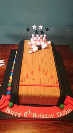 Pleasing 53 Best Bowling Birthday Cakes Images Bowling Birthday Cakes Personalised Birthday Cards Paralily Jamesorg