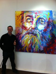 "Peoples Choice at Mandorla Art Award 2014 with ""Elijah"", Acrylic on Canvas. Would hang this in my home!!"