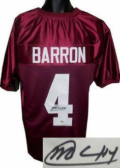 a9c8f17e7af Mark Barron signed Alabama Crimson Tide Maroon Custom Jersey imperfect-  Barron Hologram .  136.80.