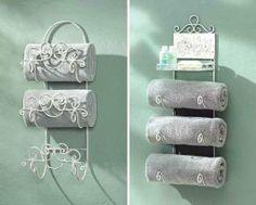 Ideas De Almacenamiento de Toallas de baño, me gusta esto tambien para colgar los cubrecamas