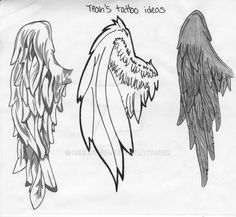 My friend asked me to draw wing tattoos for her. She's probably going to get one on her ankle. ****IMPORTANT EDIT:************************ As this piece seems to be pretty popular, I thought I...