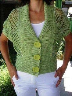 New Ideas for crochet lace dress pattern girl Crochet Coat, Crochet Lace Dress, Crochet Jacket, Crochet Cardigan, Crochet Clothes, Knit Jacket, Lace Dress Pattern, Crochet Bolero Pattern, Knit Vest Pattern