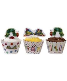 Hungry Caterpillar Cupcake Wraps | 24ct - $7.45