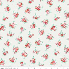 Milk Floral in White, $9.75/yd, $4.88 per half yard from Skye Reve Fabrics