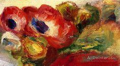 Pierre Auguste Renoir Anemones oil painting reproductions for sale