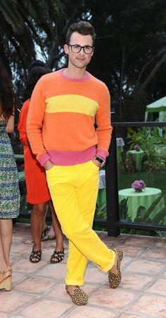 Brad Goreski. I mean, yellow, orange, pink ;)