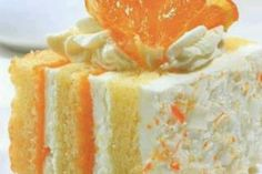 """Orange Dreamsicle Cake (makes you dream of summer!)  Ingredients: 1 Pkg Yellow Cake Mix 2 Pks Orange Jello 1 Pk Vanilla Instant Pudding 1 Cup 2% Milk 2 large eggs 2 Tsp Vanilla 1 Tub Cool Whip  Directions: Bake the cake as directed in a 9x13"""" pan. Let cake cool completely. Poke holes in cooled cake. Mix 1 package orange gelatin dessert with 1 c. boiling water and 1 c. cold water. Pour over cake. Cover and refrigerate for 4 hours. Mix pudding mix with cold milk the other package of orange…"""