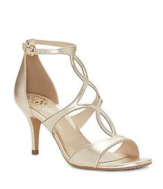 cd4ee22ff9a7a6 Vince Camuto Payto Metallic Leather Ankle Strap Dress Sandals - Dillards Dress  Sandals