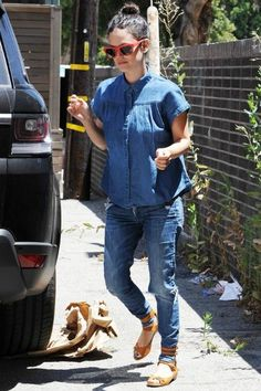 Rachel Bilson wearing Sicky Eyewear S1 Red Matte Sunglasses and Chloe Buckled Strap Sandals