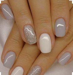 Fascinating white and gray nail polish to try Nageldesign Nail Art Nagellack Nail polish Nailart Nails Nagel Ideen Grey Nail Polish, Gray Nails, Pink Nails, Glitter Nail Polish, Gel Nail Polish Colors, Yellow Nails, Gel Nails With Glitter, Nail Art Toes, White Shellac Nails