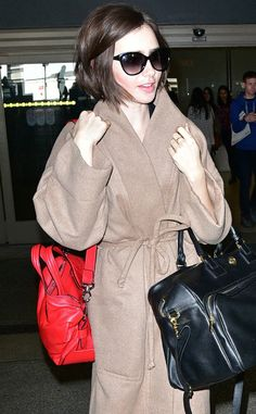 Lily Collins from The Big Picture: Today's Hot Pics  Lovely Lily! The actress isspotted arriving to Los Angeles International Airport in style.