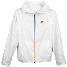 Nike RU Solid LW Windrunner Jacket - Men's - White/Black