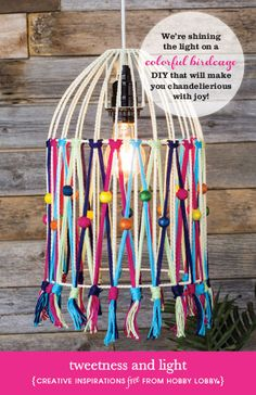 We're shining the light on a colorful birdcage DIY that will make you chandelierious with joy!