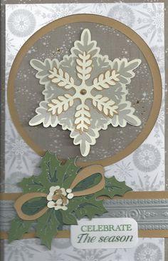 Christmas Card using Anna Griffin Winter Wonderland Cricut cartridge