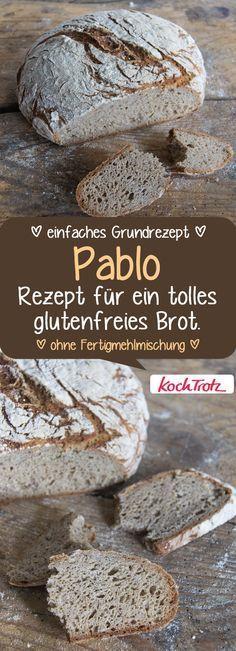 Pablo ist mein Grundrezept für ein tolles, herzhaftes glutenfreies Brot mit krosser Kruste und lockerer Krume. #glutenfrei #brot