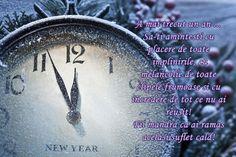 Felicitare de Anul Nou cu ceas