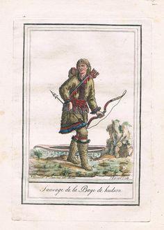 1790 - Hudson Bay Canada America costumes Trachten engraving Kupferstich | eBay