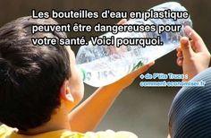 Quand on achète une bouteille d'eau, on se dit que l'eau est potable et sans danger. Pourtant, même si l'eau est bien bonne, ce n'est pas forcément le cas du plastique qui l'entoure... Et oui, la bouteille en plastique qui contient l'eau peut être dangereuse pour notre santé. Si on......