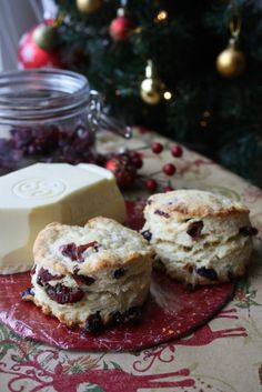 Cranberry and White Chocolate Scones