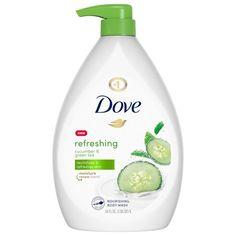 Dove go Fresh Cucumber & Green Tea Body Wash 34 fl oz Dove Go Fresh, Dove Body Wash, Perfume, Body Soap, Body Lotion, Green Tea Extract, Shower Gel, Shower Foam, Products