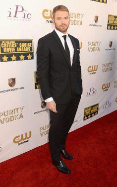Kellan Lutz attends the19th Annual Critics' Choice Movie Awards at Barker Hangar on January 16, 2014 in Santa Monica, California.