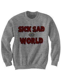 Sick Sad World Sweatshirt Crewneck Sweater Jumper - Daria T Shirt - Geek Nerd Soft Grunge Punk 90s Nineties MTV Shirt Women Guys Ladies by FashionRescueMission on Etsy