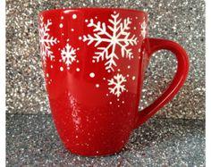 Popular items for snowflake mug on Etsy
