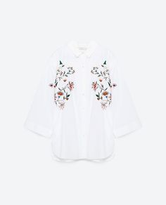 Image 8 of OVERSIZED FLORAL SHIRT from Zara