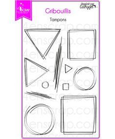 """Le set de tampons """"Gribouillis"""" #4enscrap"""