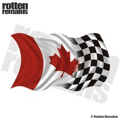 Canada Canadian Checkered Racing Flag (RH) Sticker Decal Snow Machine, Lion Logo, Checkered Flag, Future Tattoos, Water Crafts, Vinyl Art, Adhesive Vinyl, Decals, Racing