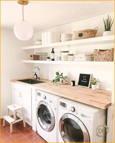 35 Amazingly Inspiring small laundry room design ideas For Small Spaces – Laundry Room İdeas 2020 Easy Diy Room Decor, Diy Bathroom Decor, Home Decor Kitchen, Kitchen Ideas, Bathroom Ideas, Kitchen Modern, Budget Bathroom, Kitchen Living, Small Laundry Rooms
