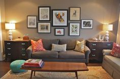 Eclectic Living Room Small Living Room Design, Pictures, Remodel, Decor and Ideas. Love the frame layout Small Living Room Design, Eclectic Living Room, Transitional Living Rooms, Small Living Rooms, My Living Room, Living Room Designs, Living Room Decor, Living Spaces, Cozy Living
