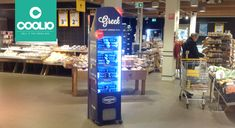 Danone Netherlands using the Coolio & freshboard Concept to promote the Greek Yaourt