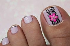 Uñas Pedicure Designs, Pedicure Nail Art, Toe Nail Designs, Toe Nail Art, Trendy Nail Art, Easy Nail Art, Cotton Candy Nails, Cute Toe Nails, Nail Art Videos