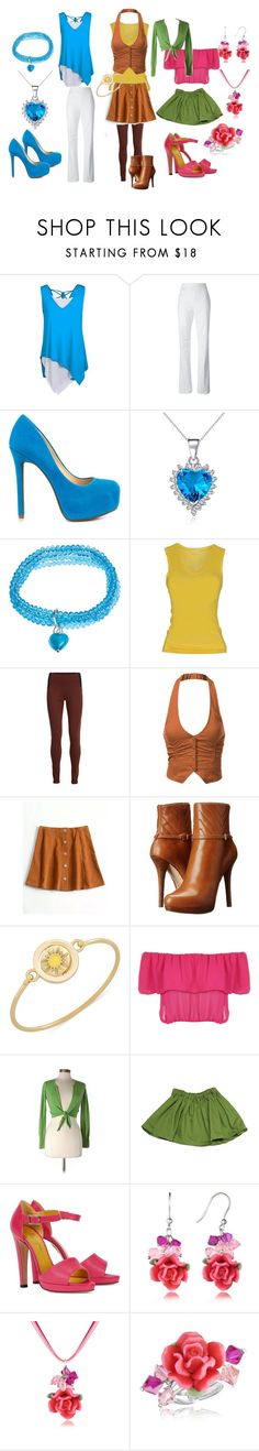"""""""♥Winx Club, Bloom, Stella and Flora♥"""" by taffybratz ❤ liked on Polyvore featuring Dsquared2, Jessica Simpson, Carolina Glamour Collection, Martick, Pinko, SELECTED, J.TOMSON, MICHAEL Michael Kors, Carolee and WearAll"""