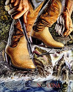 One of the 1980's iconic Nocona Boots posters.