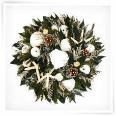 Christmas wreaths with seashells  | Christmas Wreaths : Seashell Wreaths | Hayneedle.com