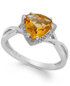 Ahh I love citrine   Citrine (1-3/4 ct. t.w.) and Diamond Accent Ring in 14k White Gold