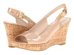 Franco Sarto Colley Women's Wedge Shoes - Nude Patent