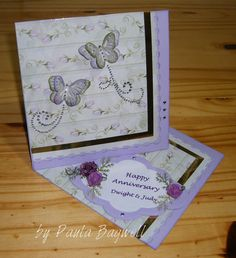 Anniversary Twisted-Easel Cards