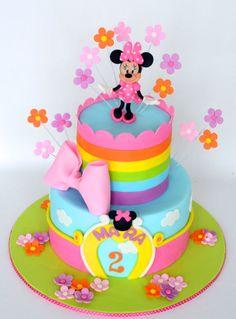 . Bolo Da Minnie Mouse, Mickey And Minnie Cake, Minnie Mouse Cookies, Minnie Mouse Birthday Cakes, 3rd Birthday Cakes, Mickey Cakes, Mickey Birthday, Girl Cakes, Cake Creations