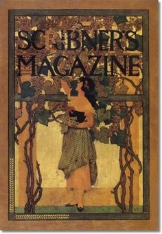 """Maxfield Parrish - painting for Scribner's Magazine cover """"A Grape Gatherer"""" (October oil on panel X Artist Painting, Painting & Drawing, Magazine Art, Magazine Covers, Maxfield Parrish, Inspirational Artwork, Vintage Magazines, Illustrations And Posters, American Artists"""