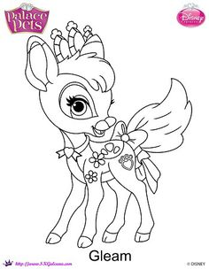 prinxess palace pets printable coloring page gleam