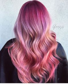 gives us a little summer bouquet feast for the eyes One Hair, Hair Day, Hair Horn, Hot Pink Hair, Pastel Hair, Unicorn Hair Color, Creative Hair Color, Pretty Hair Color, Hair Addiction