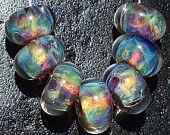 Spirit Ripples Handmade Boro Lampwork Glass Bead Set Beads by Christina Burkhart