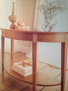 Great Swedish Home By Ethan Allen Console Table.