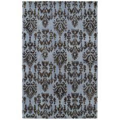 Swanky Blue Ikat Wool Rug (8' x 11') | Overstock.com