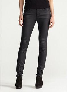 Skinny Jean in Organic Cotton Waxed Stretch Denim