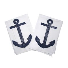 Anchor Kitchen Towel in Navy (Set of 2)